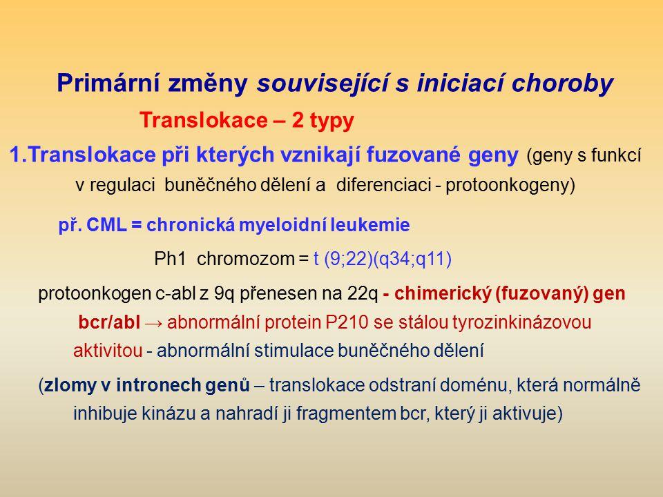 Primární změny související s iniciací choroby
