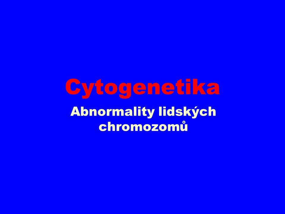 Abnormality lidských chromozomů