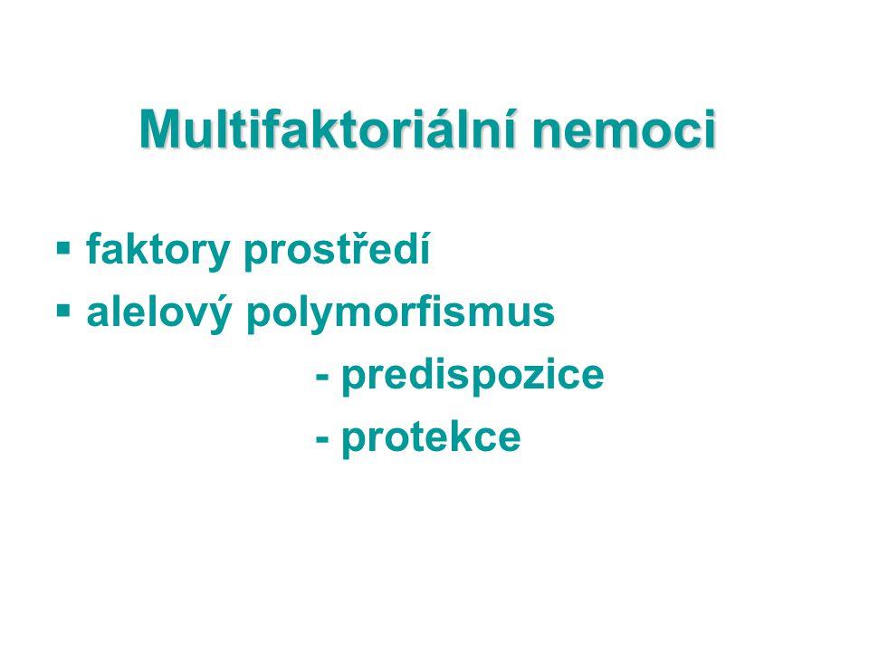 Multifaktoriální nemoci