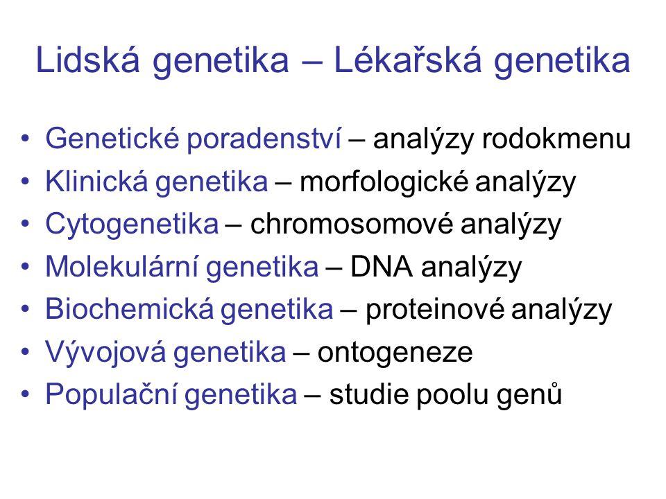 Lidská genetika – Lékařská genetika