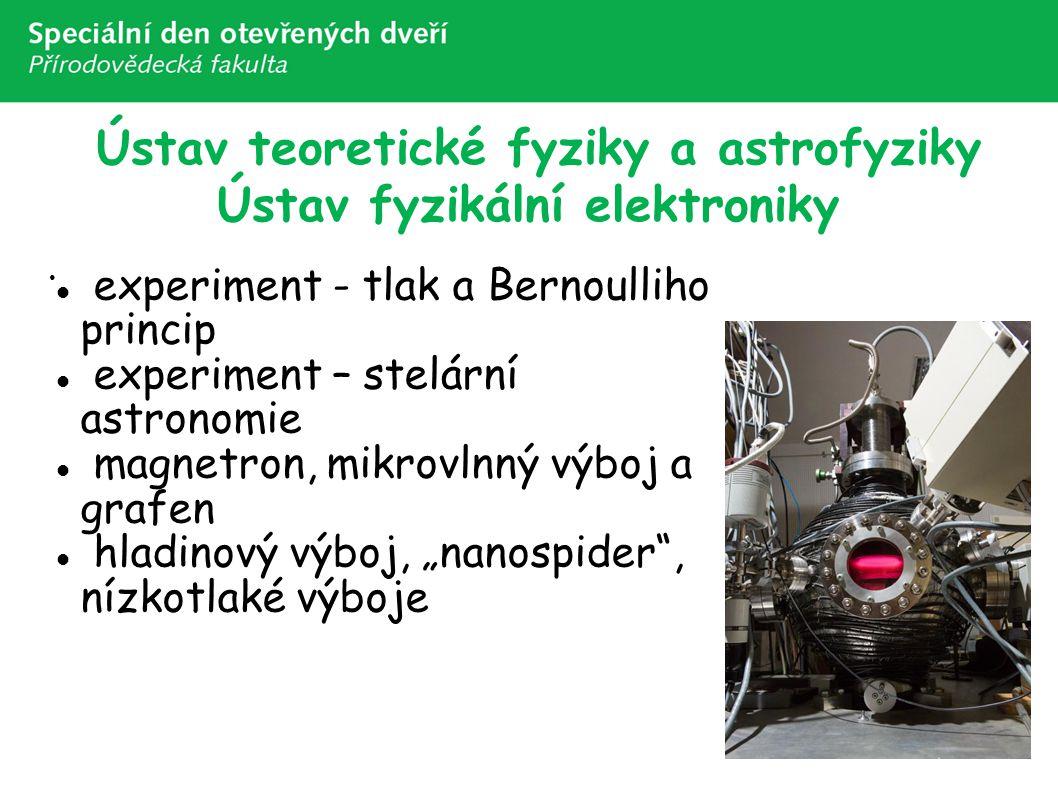 Ústav teoretické fyziky a astrofyziky Ústav fyzikální elektroniky