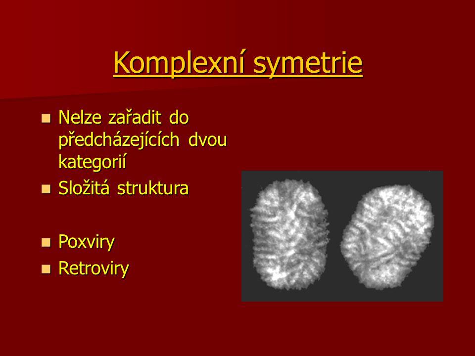 Komplexní symetrie Nelze zařadit do předcházejících dvou kategorií