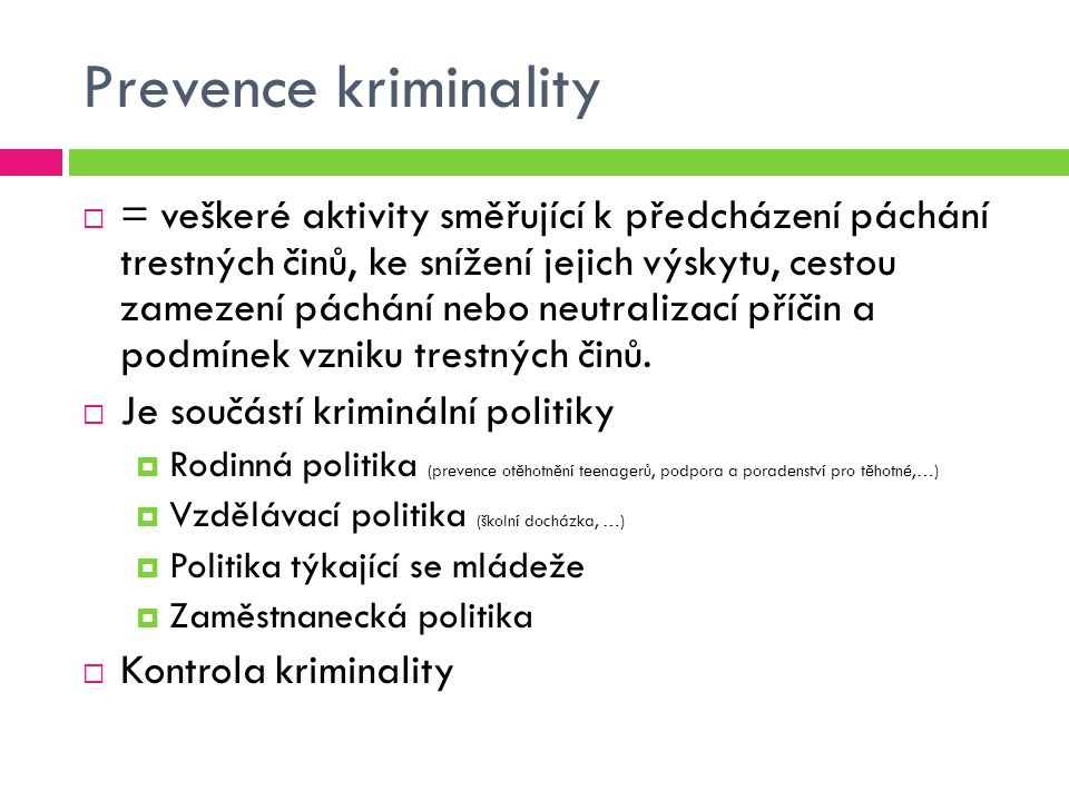 Prevence kriminality