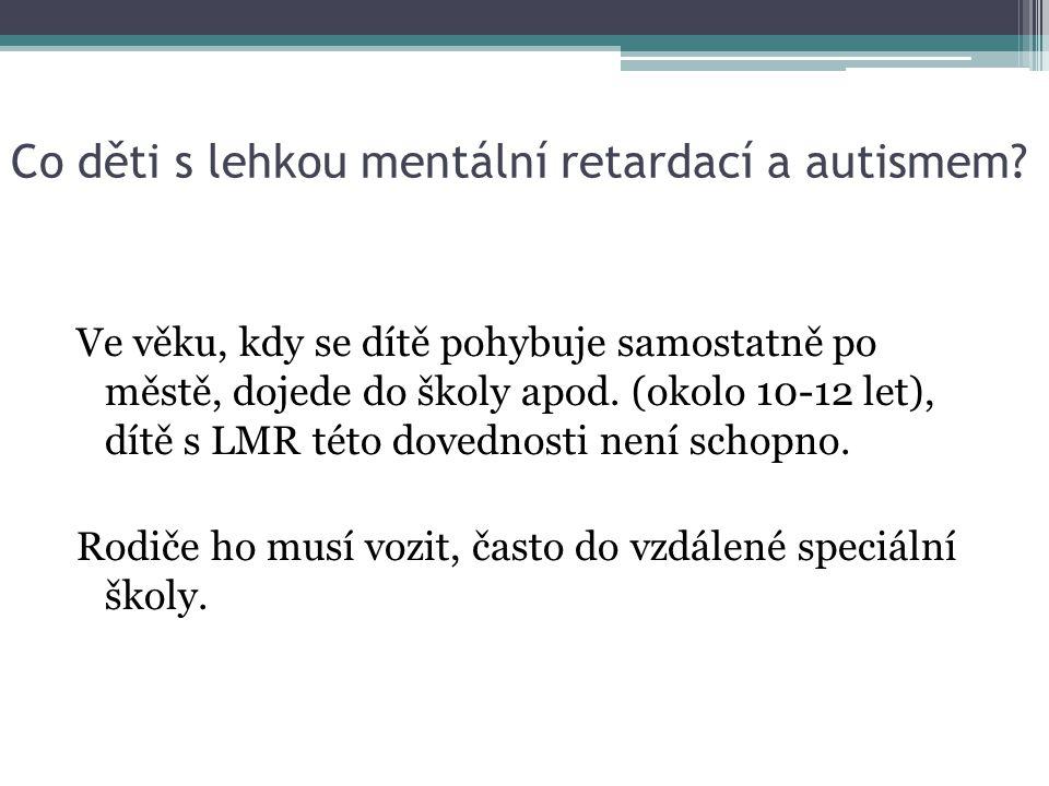 Co děti s lehkou mentální retardací a autismem