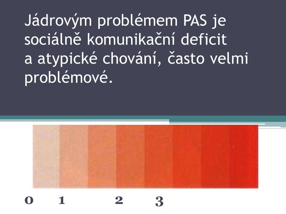 Jádrovým problémem PAS je sociálně komunikační deficit a atypické chování, často velmi problémové.