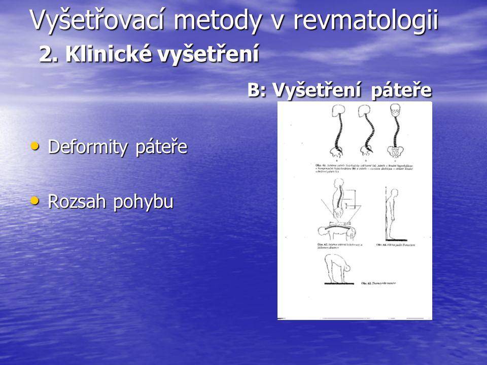Vyšetřovací metody v revmatologii 2