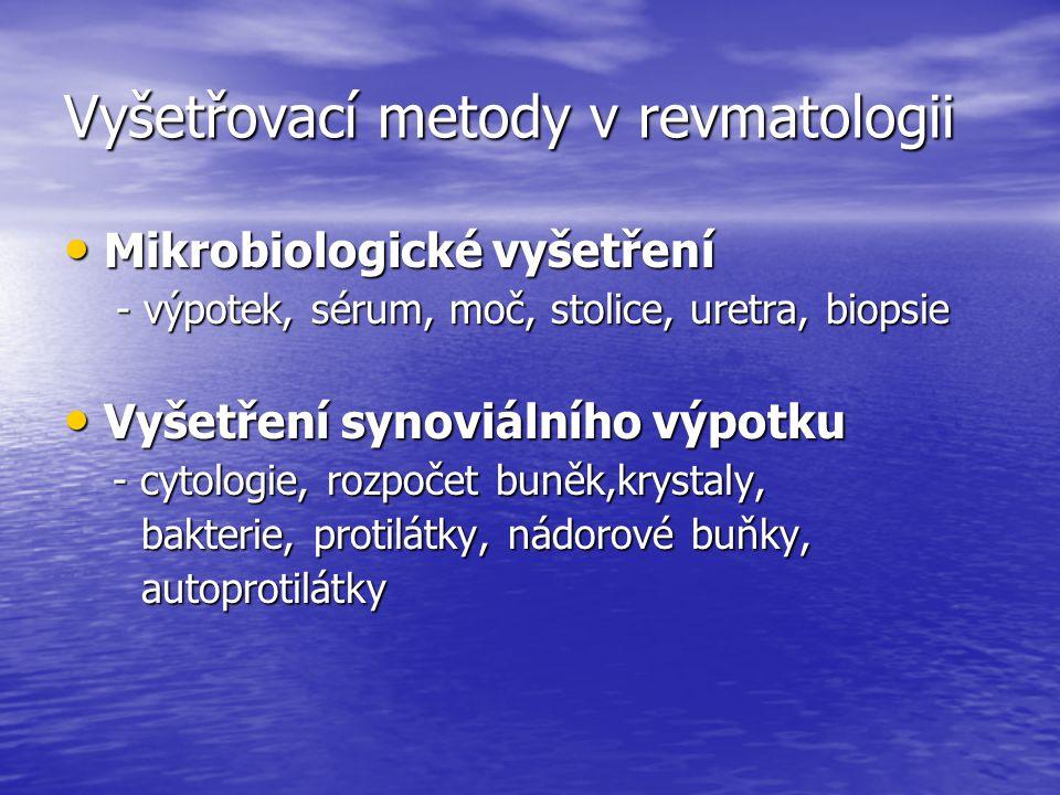 Vyšetřovací metody v revmatologii