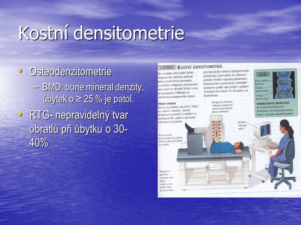 Kostní densitometrie Osteodenzitometrie