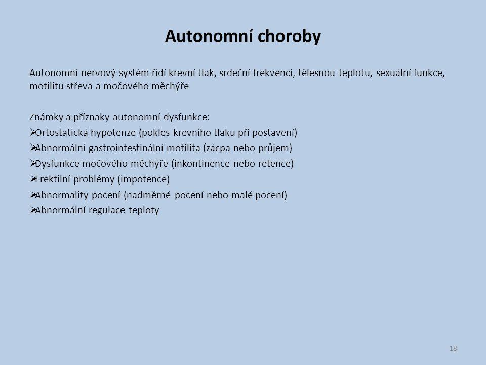 Autonomní choroby