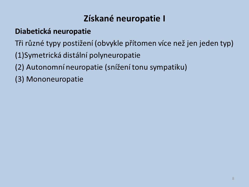 Získané neuropatie I Diabetická neuropatie