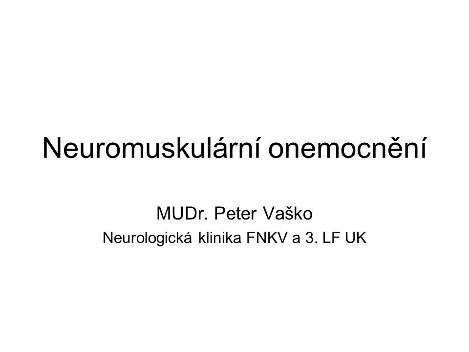Neuromuskulární onemocnění