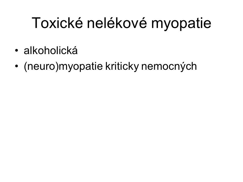 Toxické nelékové myopatie