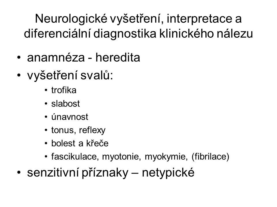 senzitivní příznaky – netypické