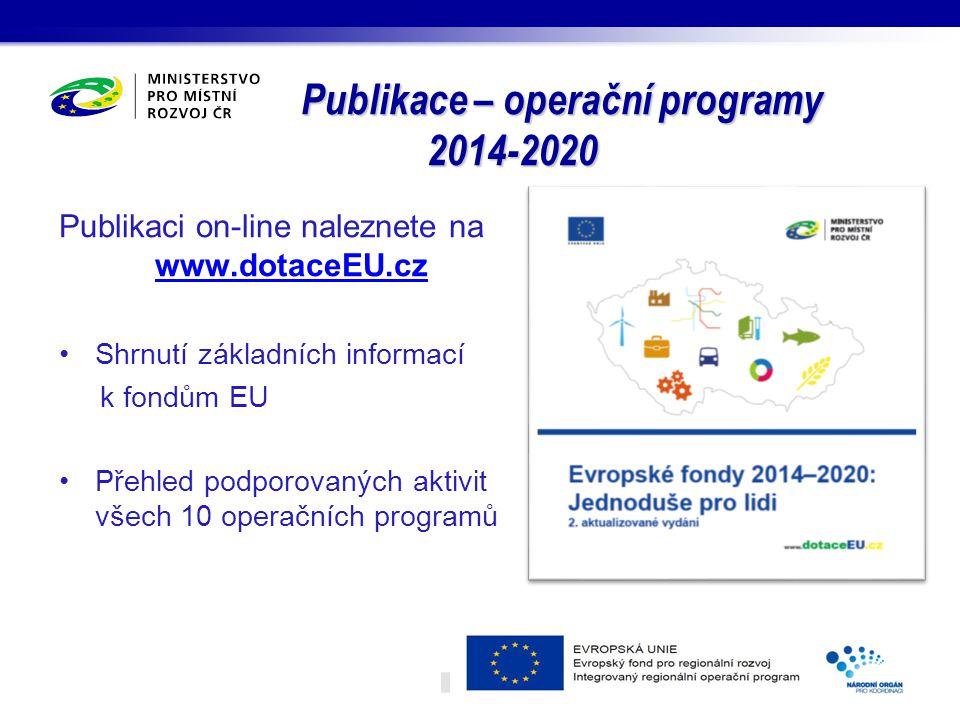 Publikace – operační programy 2014-2020