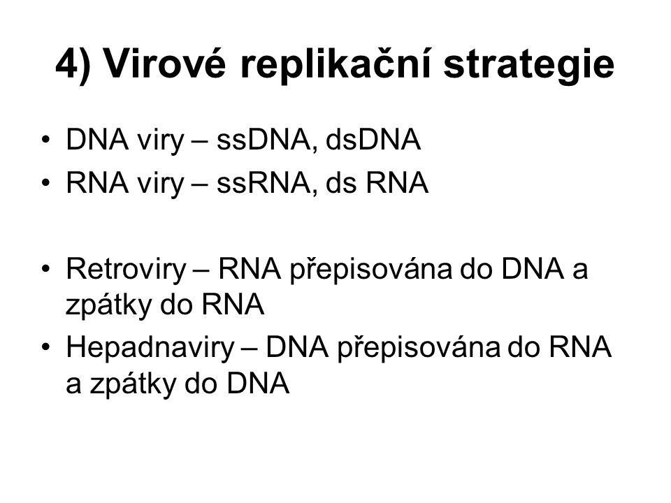 4) Virové replikační strategie