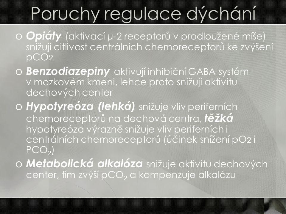 Poruchy regulace dýchání