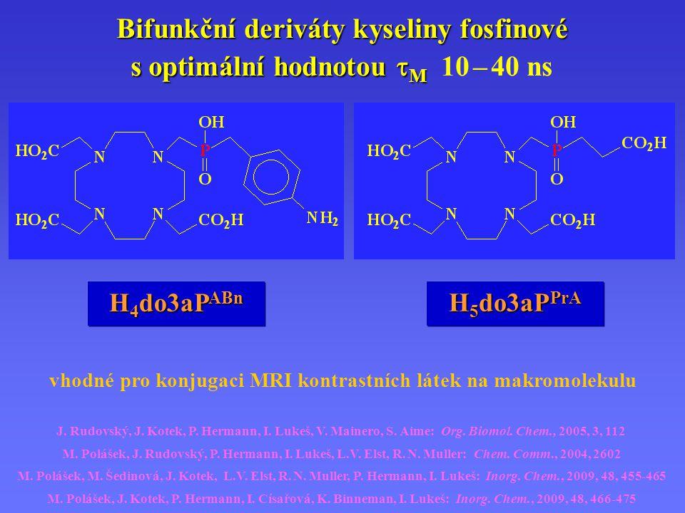 vhodné pro konjugaci MRI kontrastních látek na makromolekulu