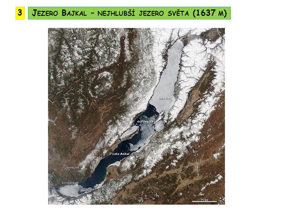 Jezero Bajkal – nejhlubší jezero světa (1637 m)