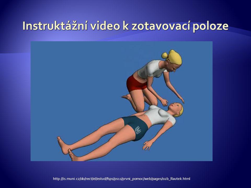 Instruktážní video k zotavovací poloze
