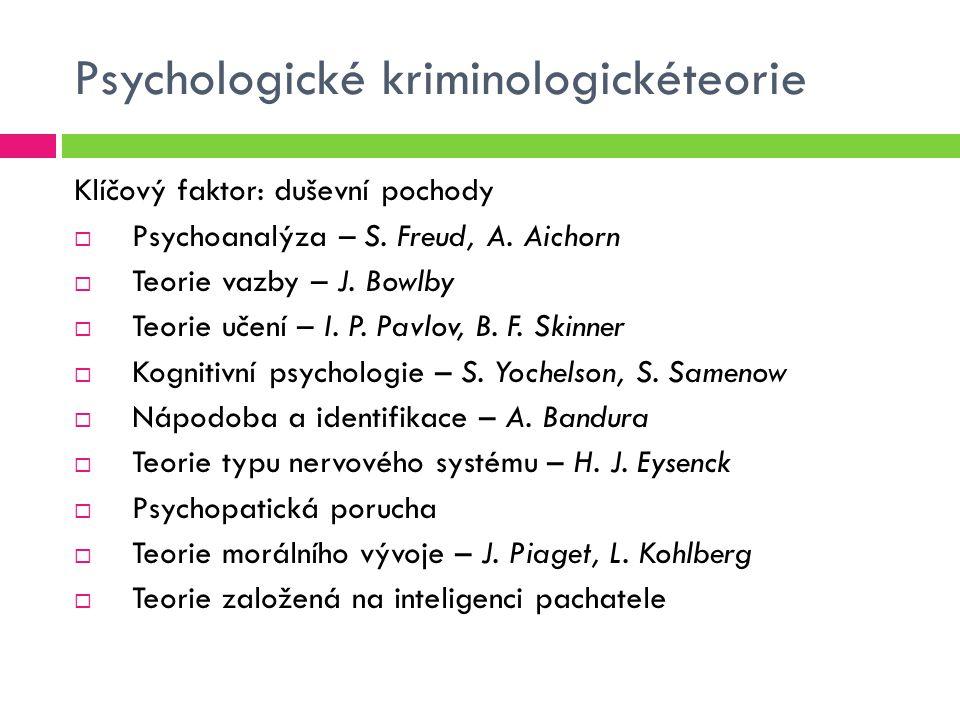 Psychologické kriminologickéteorie
