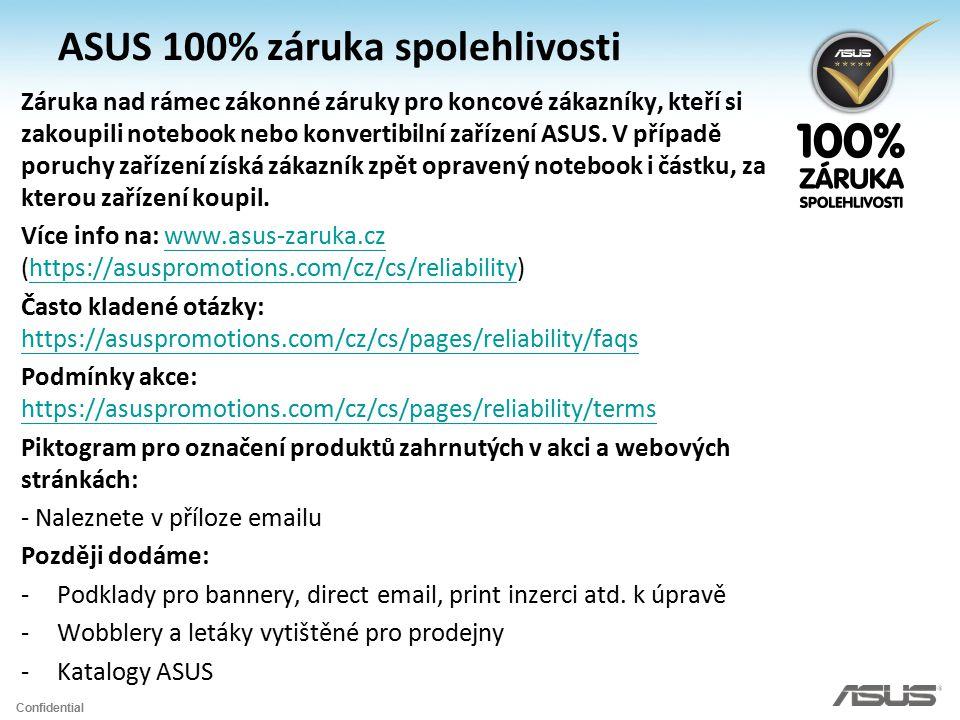 ASUS 100% záruka spolehlivosti