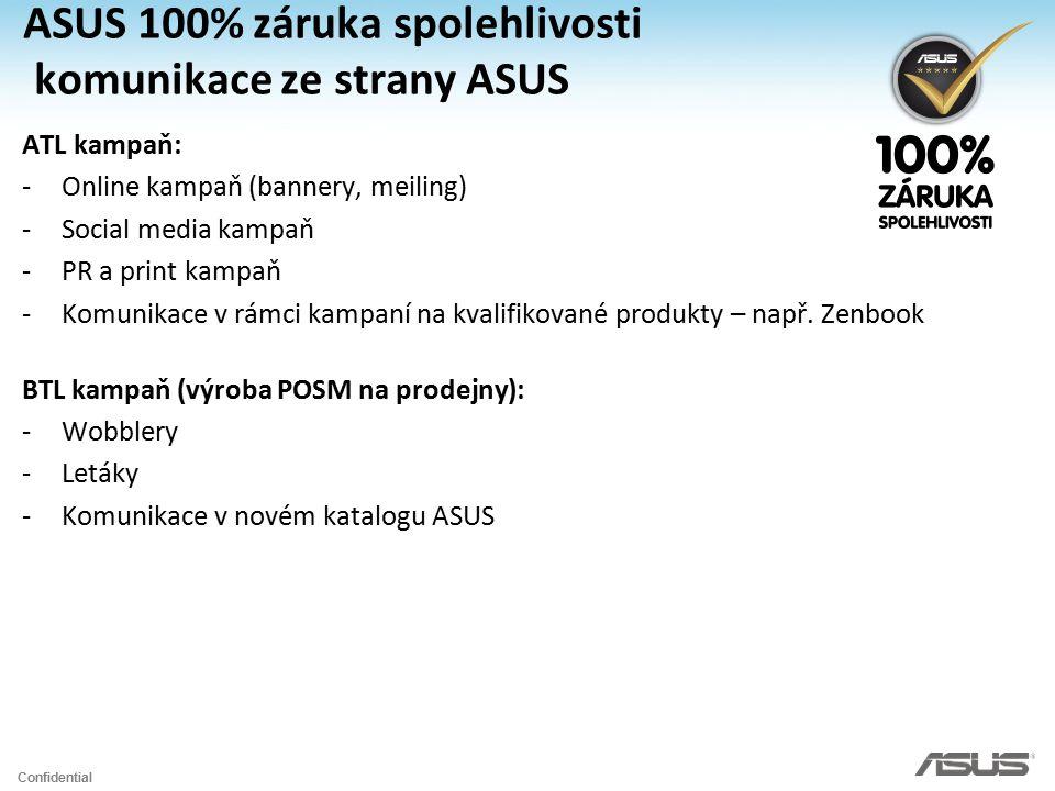 ASUS 100% záruka spolehlivosti komunikace ze strany ASUS