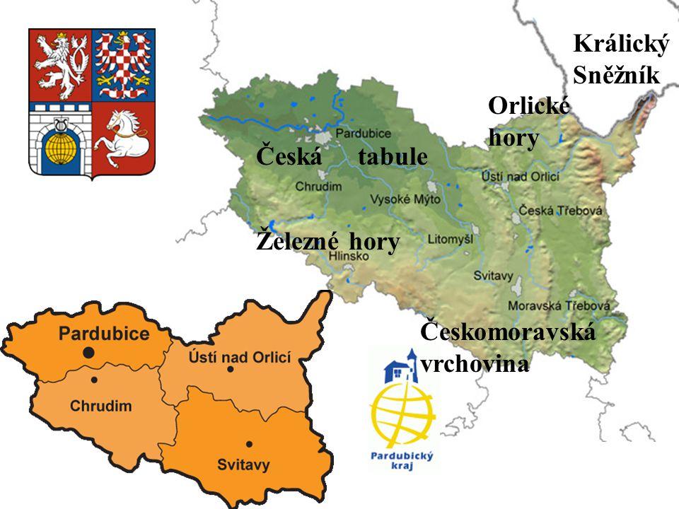 Králický Sněžník Orlické hory Česká tabule Železné hory Českomoravská vrchovina
