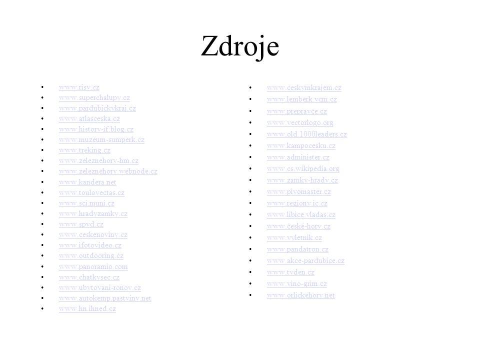 Zdroje www.risy.cz www.superchalupy.cz www.pardubickykraj.cz