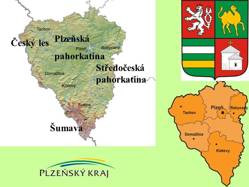 Plzeňská pahorkatina Český les Středočeská pahorkatina Šumava