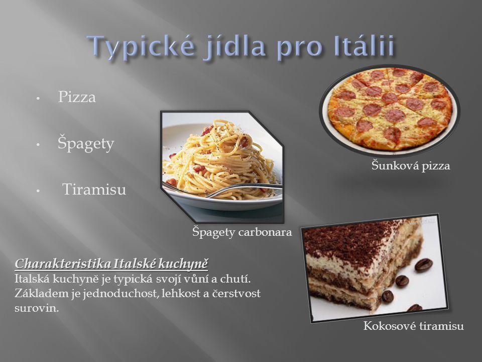 Typické jídla pro Itálii