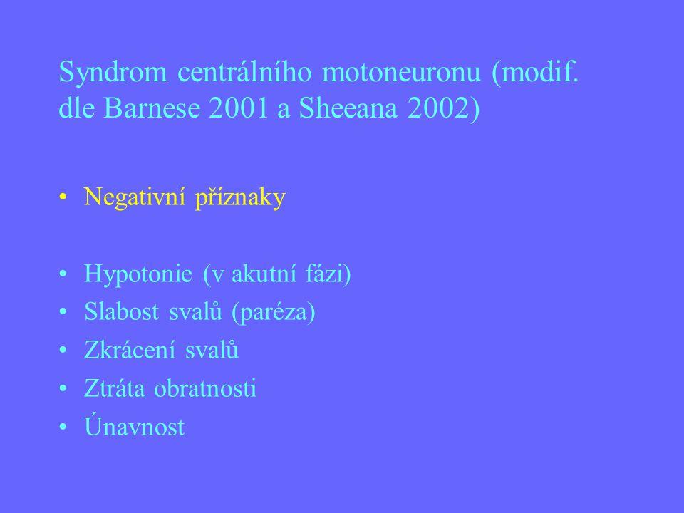 Syndrom centrálního motoneuronu (modif