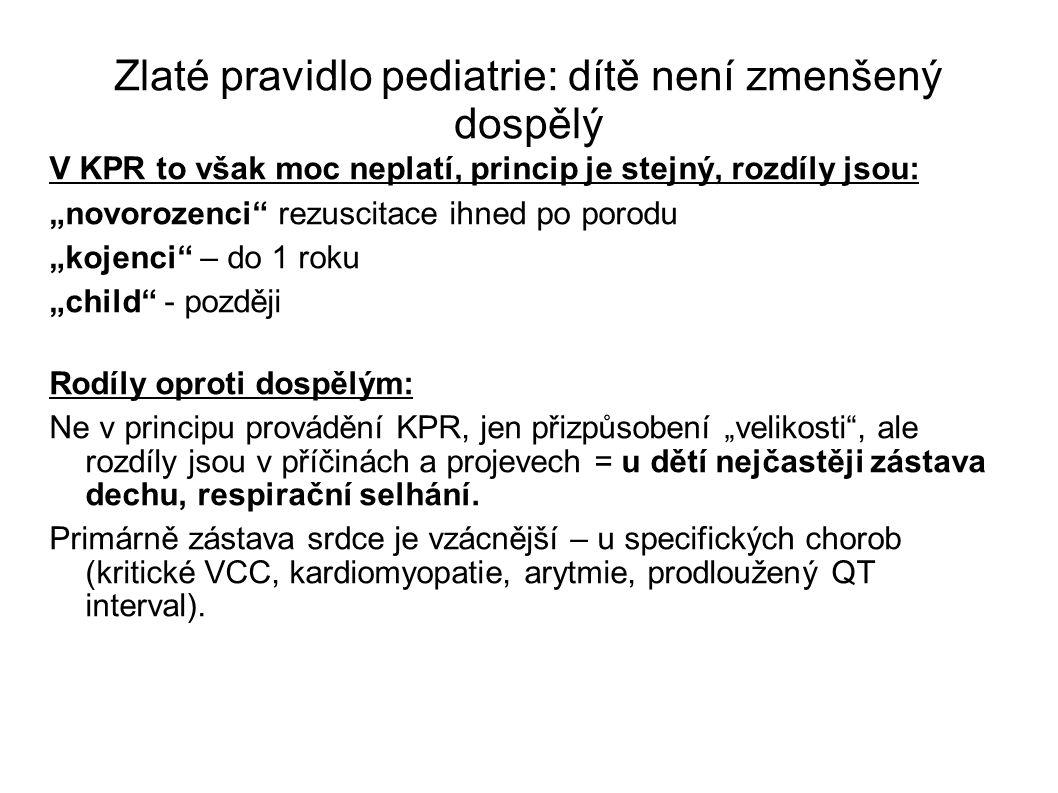 Zlaté pravidlo pediatrie: dítě není zmenšený dospělý