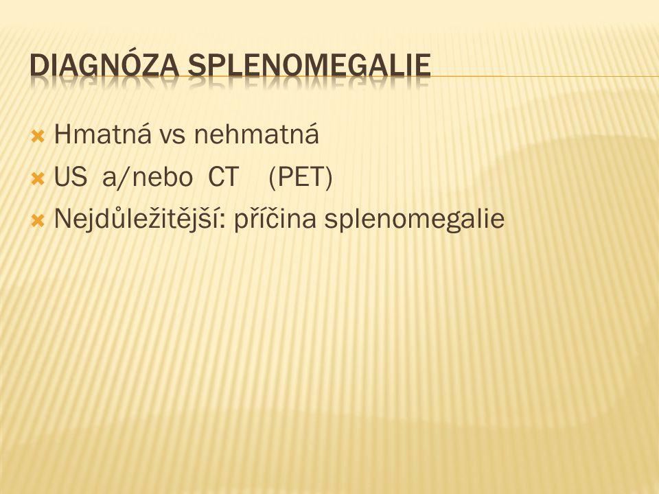 Diagnóza splenomegalie