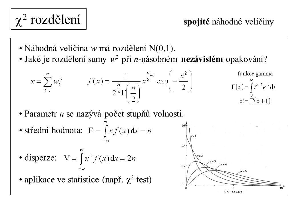 c2 rozdělení spojité náhodné veličiny