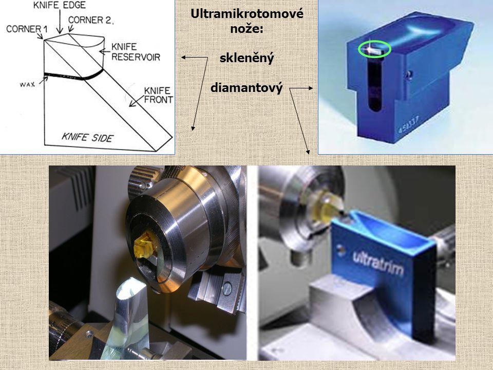 Ultramikrotomové nože: skleněný diamantový