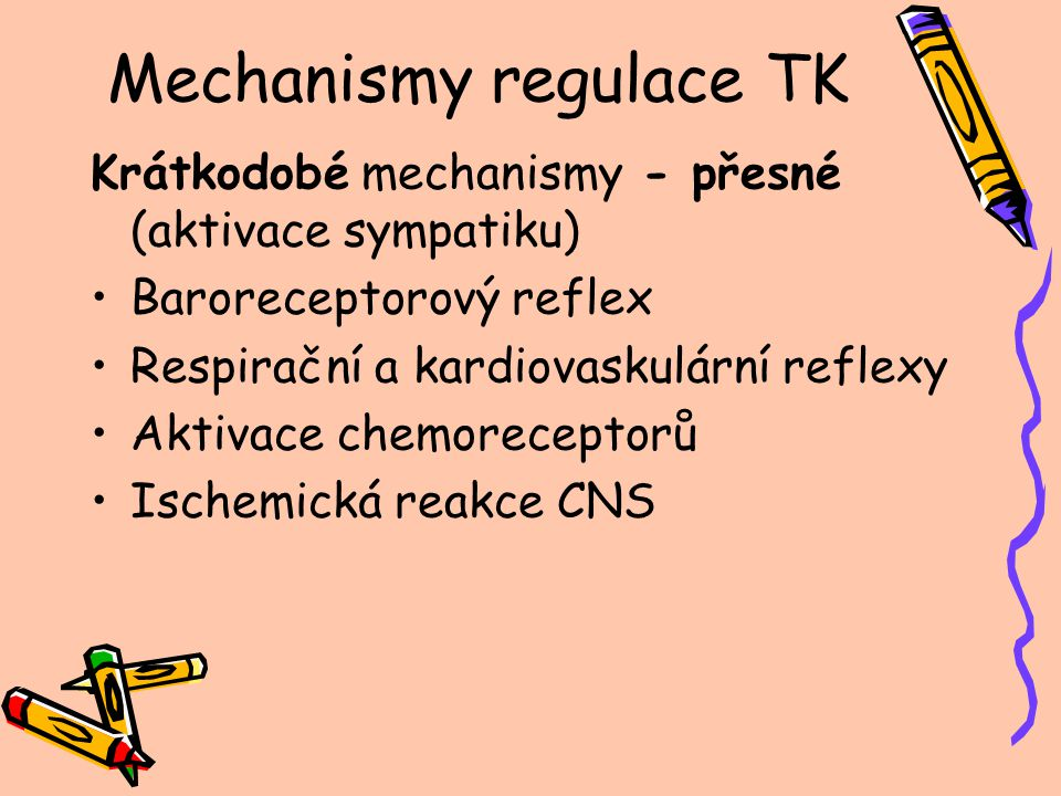 Mechanismy regulace TK