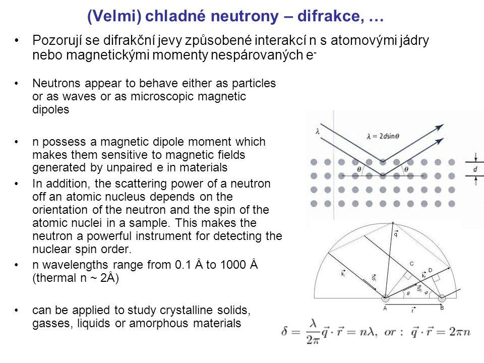 (Velmi) chladné neutrony – difrakce, …