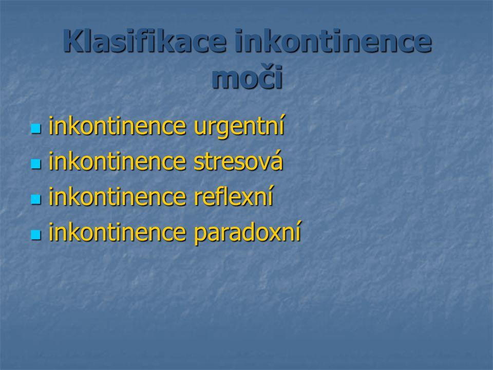 Klasifikace inkontinence moči