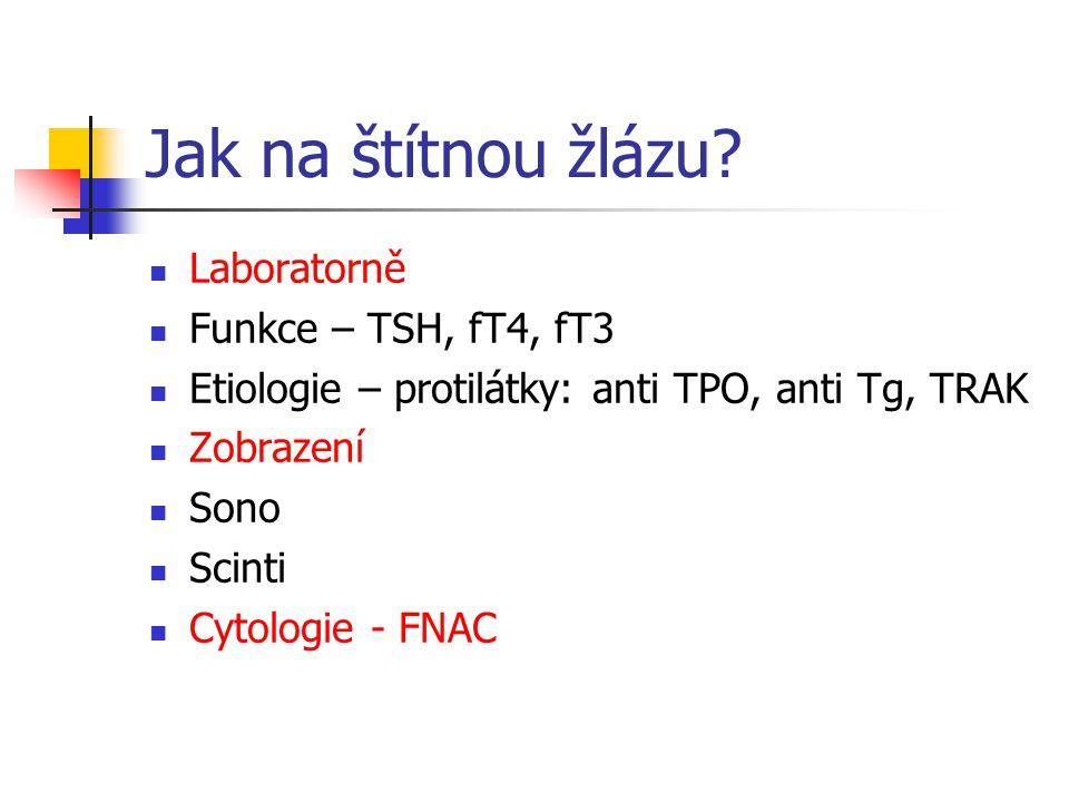 Jak na štítnou žlázu Laboratorně Funkce – TSH, fT4, fT3