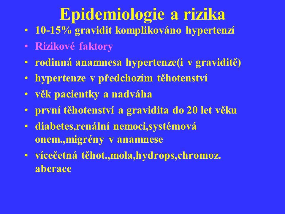 Epidemiologie a rizika