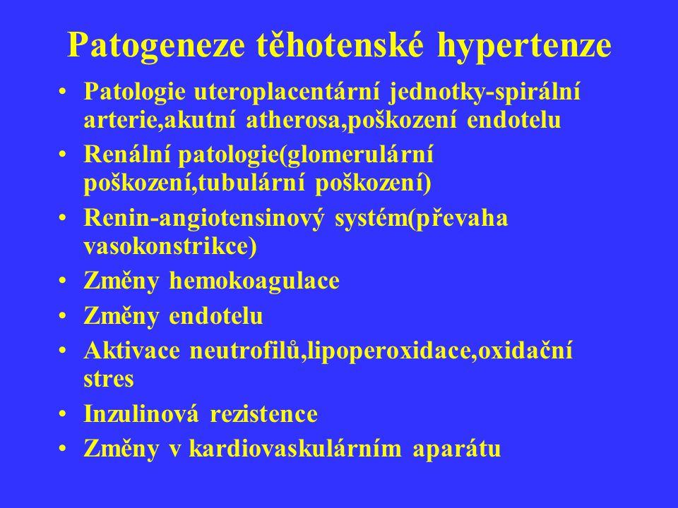 Patogeneze těhotenské hypertenze