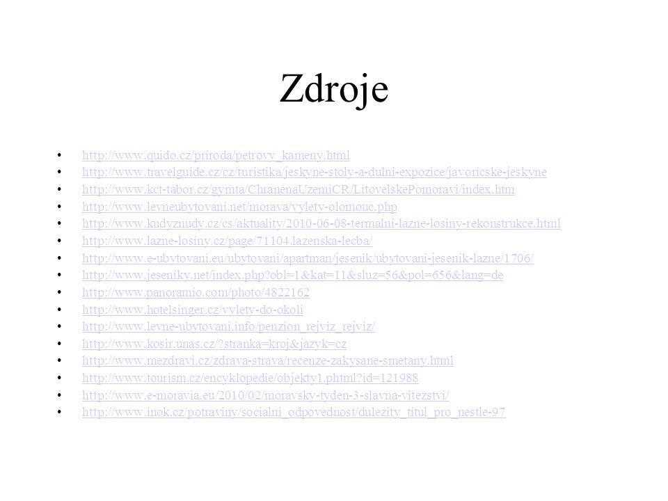 Zdroje http://www.quido.cz/priroda/petrovy_kameny.html