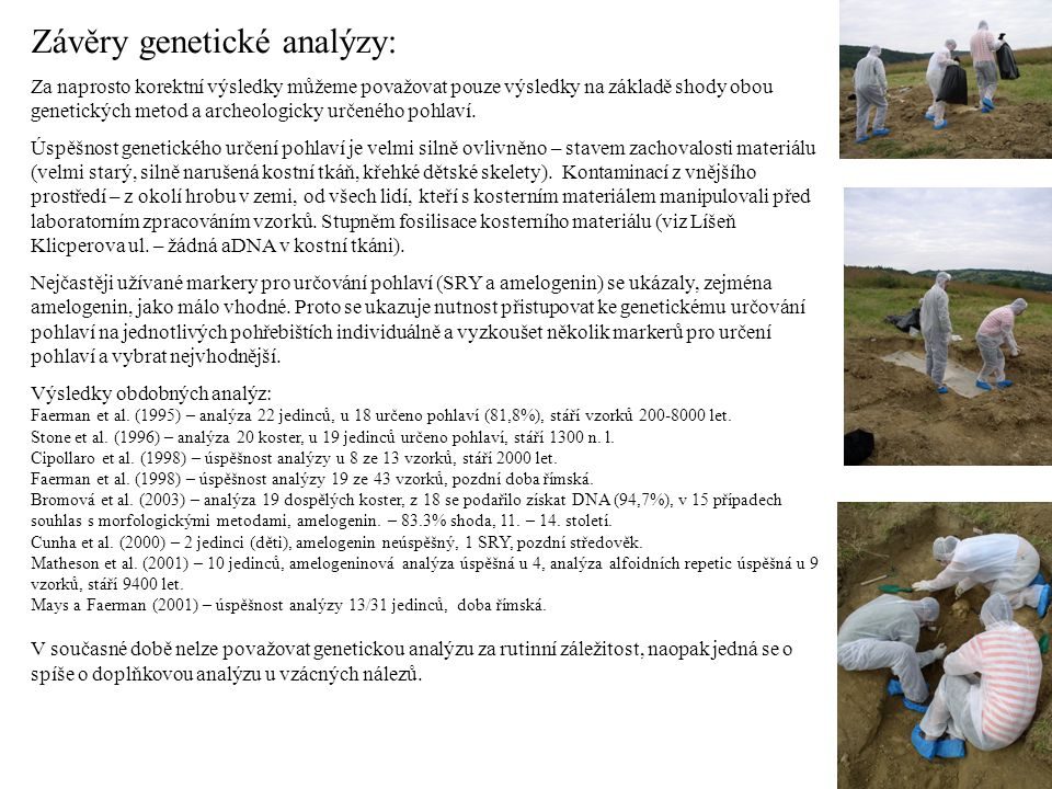 Závěry genetické analýzy: