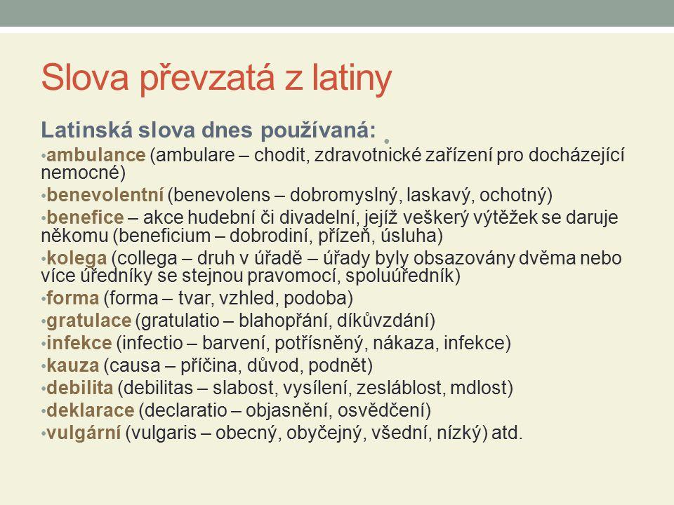 Slova převzatá z latiny