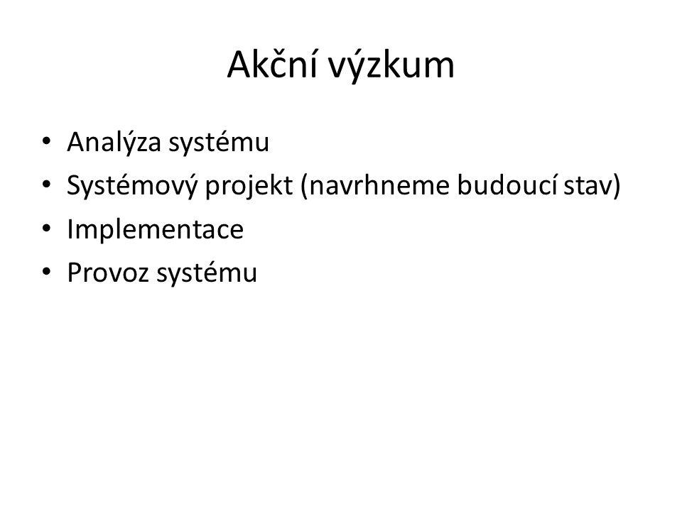 Akční výzkum Analýza systému
