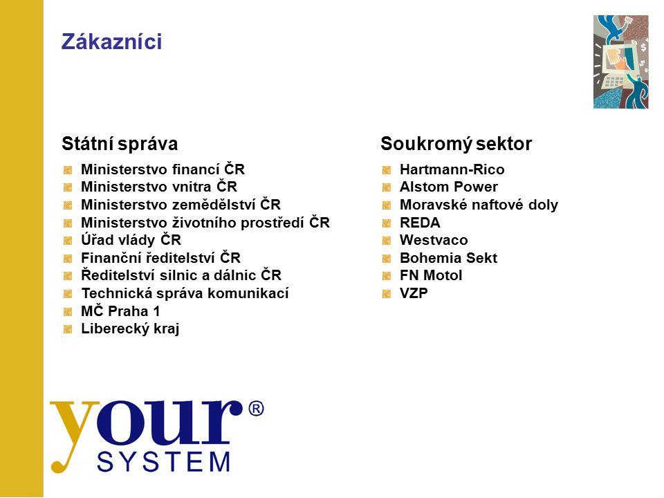 Zákazníci Státní správa Soukromý sektor Ministerstvo financí ČR