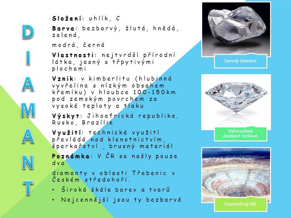 Vybroušený diamant=briliant