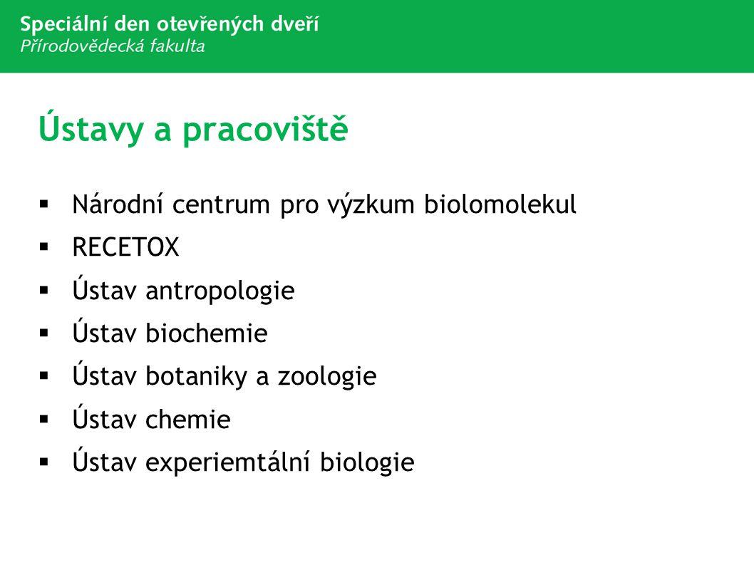 Ústavy a pracoviště Národní centrum pro výzkum biolomolekul RECETOX