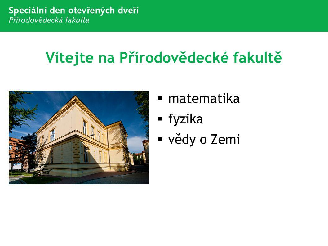 Vítejte na Přírodovědecké fakultě