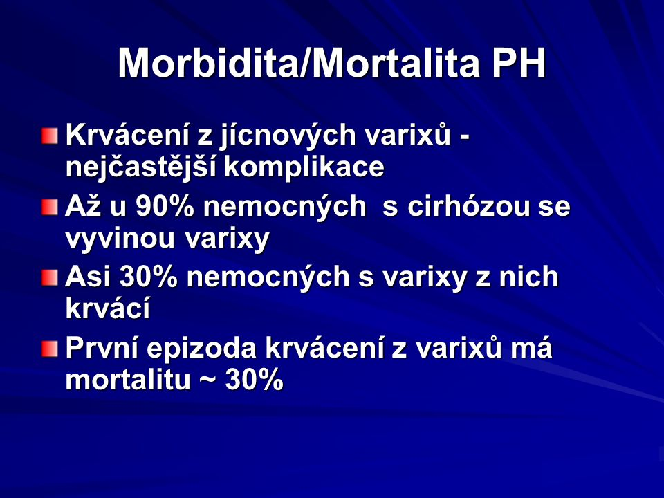 Morbidita/Mortalita PH